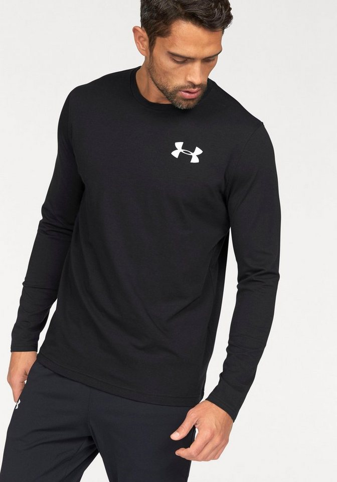 Under Armour® Langarmshirt »UA VERTICAL WORDMARK LONGSLEEVE TEE« in schwarz-weiß