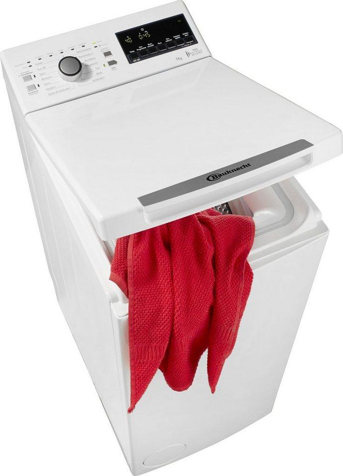 BAUKNECHT Waschmaschine Toplader WMT Trend 722 PS, A+++, 7 kg, 1200 U/Min in weiß