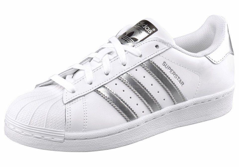 adidas Originals »Superstar Foundation« Sneaker in weiß-silberfarben
