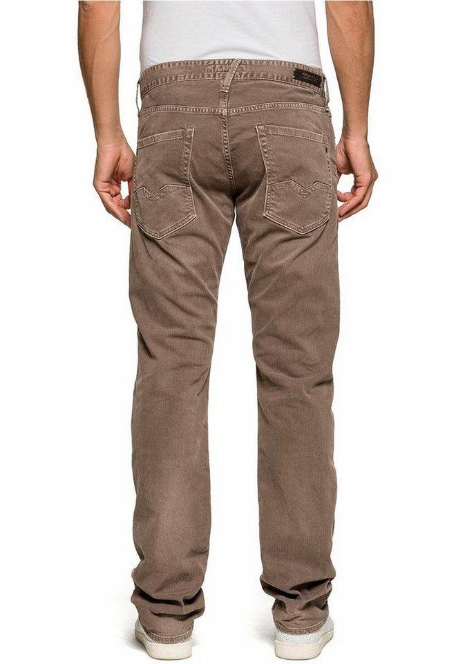 Replay Slim-fit-Jeans »Waitom« in beige