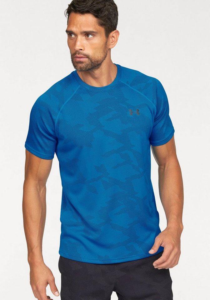 Under Armour® Funktionsshirt »UA TECH JACQUARD TEE« in blau
