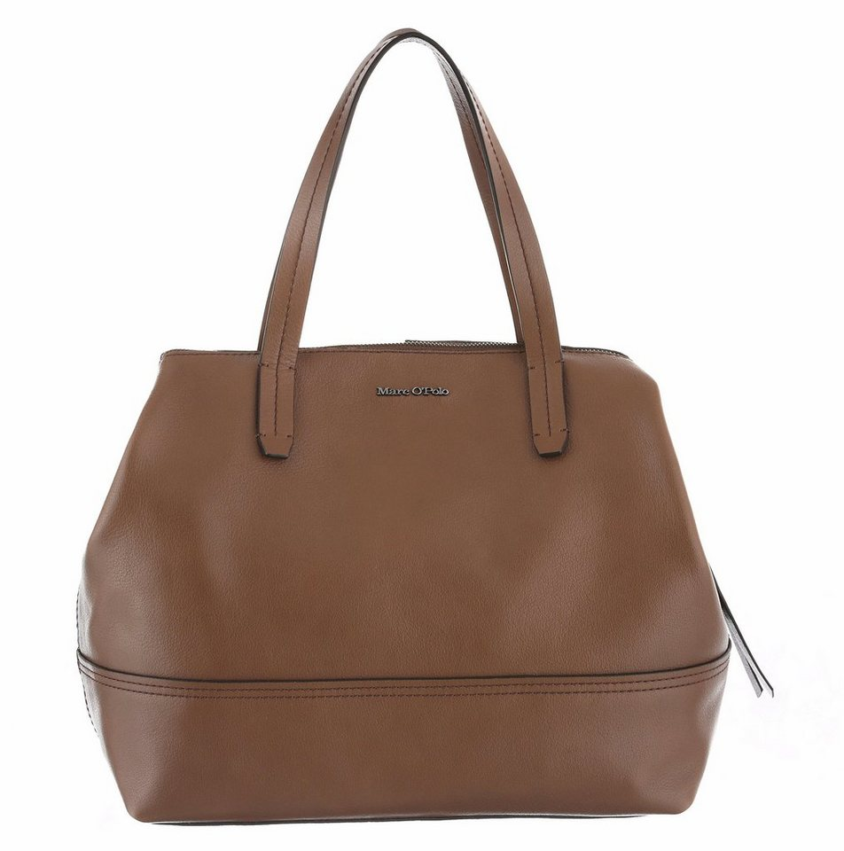 Marc O'Polo Shopper aus Leder in taupe