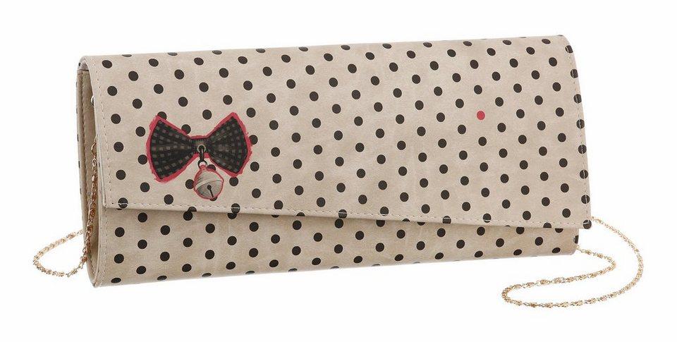 DOGO Clutch »Kitty Bell« mit Biodruck in creme-schwarz
