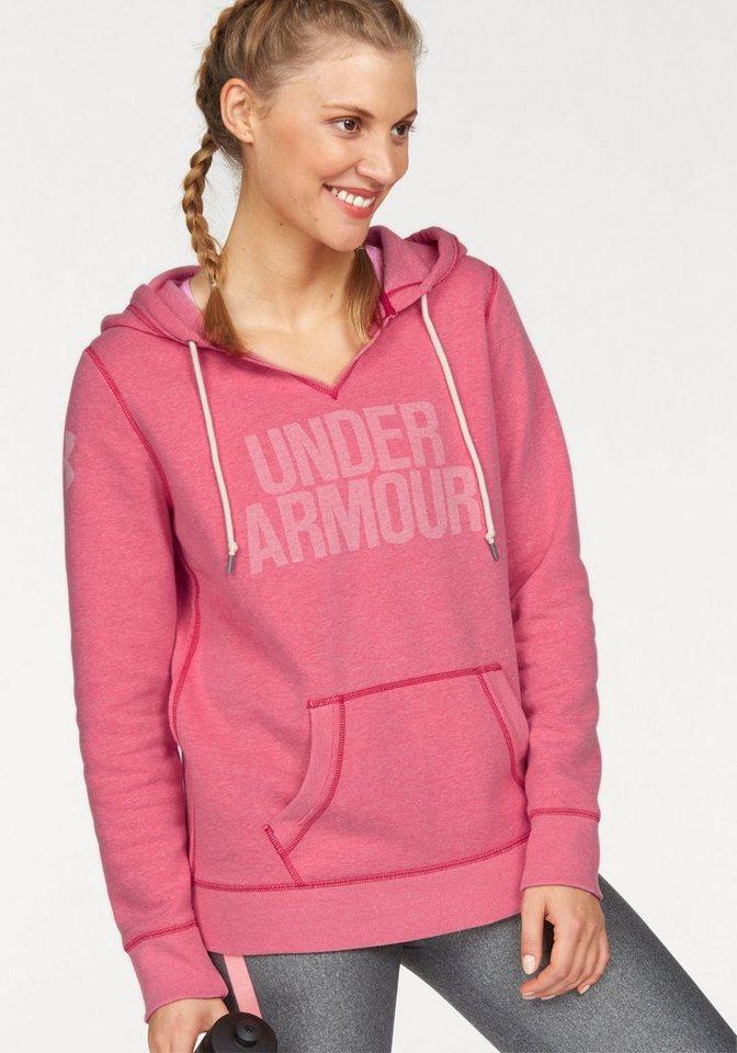 Under Armour® Kapuzensweatshirt »FAVORITE FLEECE WM POPOVER« in rosa-meliert