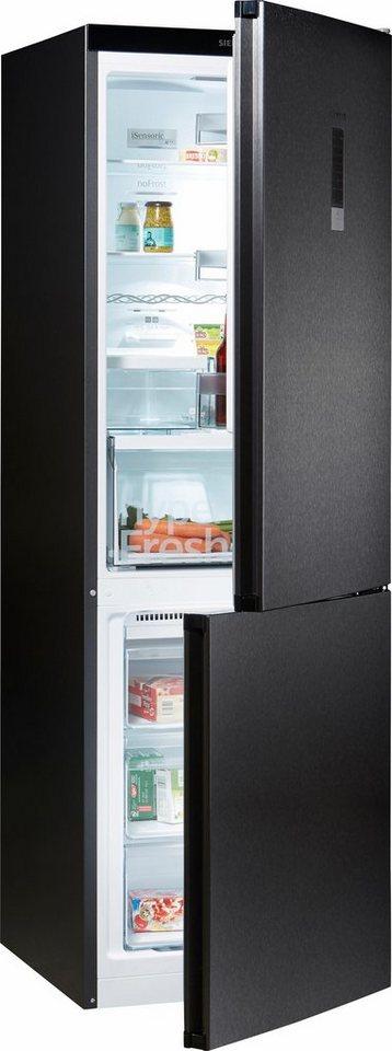 Siemens Kühl-Gefrierkombination KG36NXB45, Energieklasse A+++, 186 cm hoch, noFrost in black-inox
