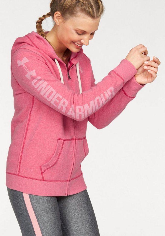 Under Armour® Kapuzensweatjacke »FAVORITE FLEECE FULL ZIP« in rosa-meliert