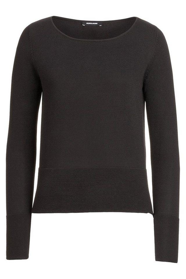 MORE&MORE Pullover, Feinstrick in schwarz