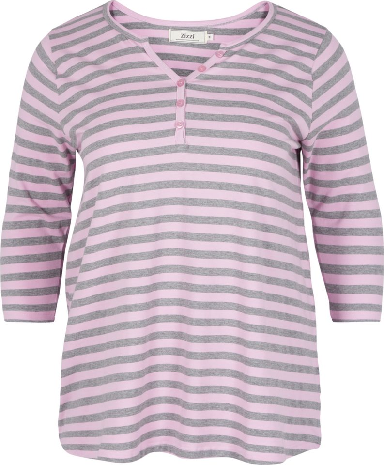 Zizzi T-Shirt in Pink Lavender/Grey Mel.
