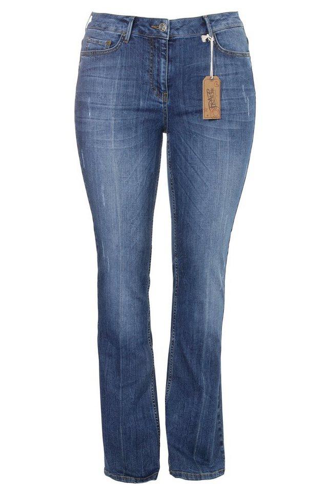 FRAPP Jeans in Mid Denim Blue in MID DENIM BLUE