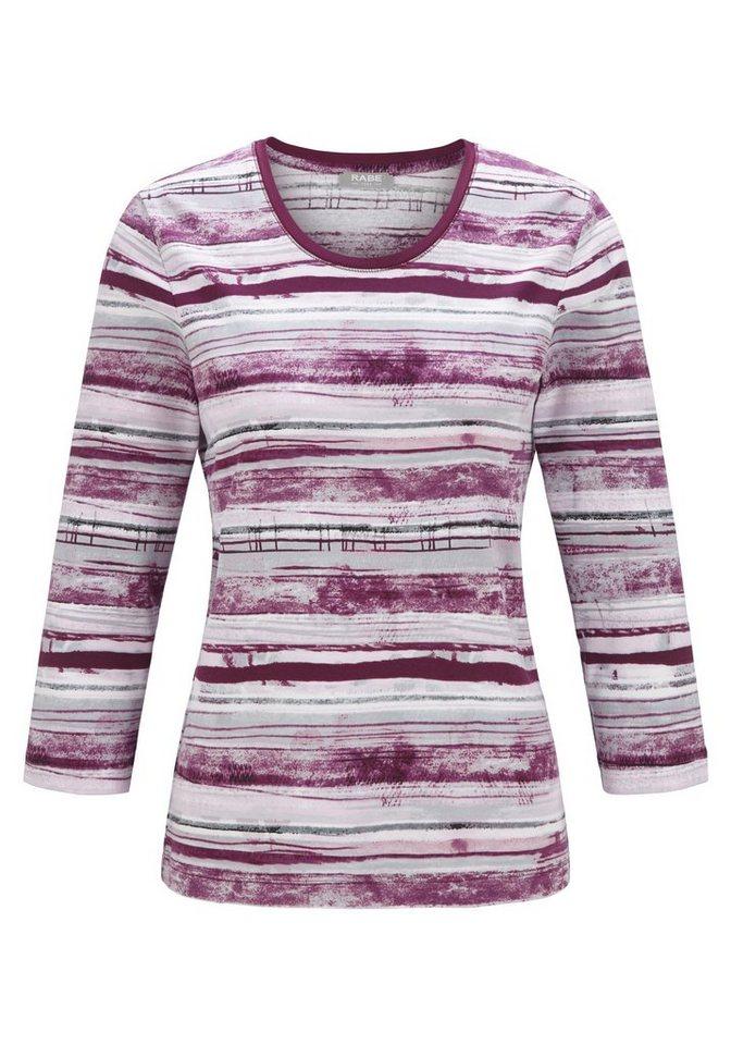 Rabe Shirt mit Streifenprint in PURPUR