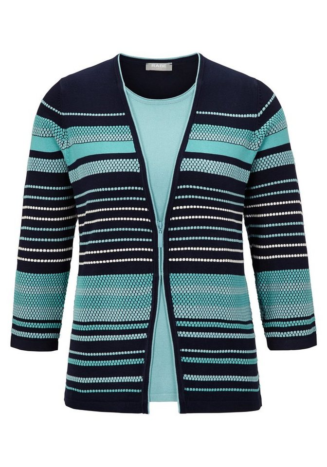 Rabe Pullover im Twin-Set-Look in MARINE