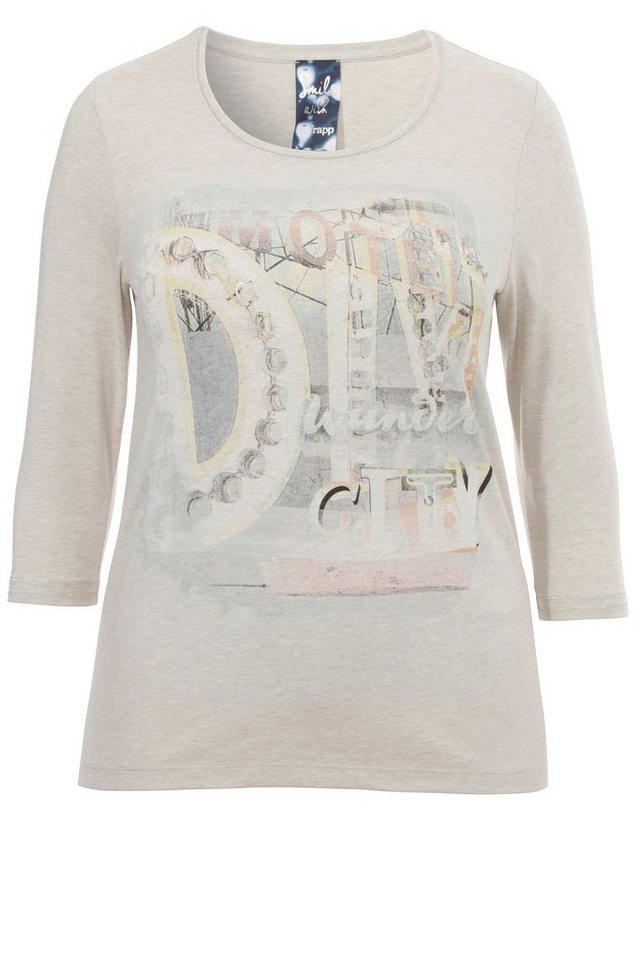 FRAPP Shirt mit Print in CLAY MELANGE
