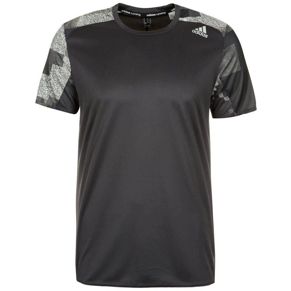 adidas Performance Response Graphic Laufshirt Herren in schwarz