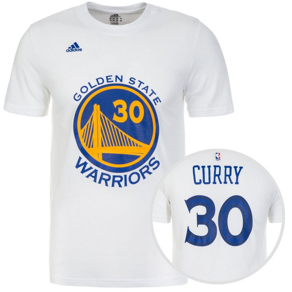 adidas Performance Golden State Warriors Gametime T-Shirt Herren in weiß