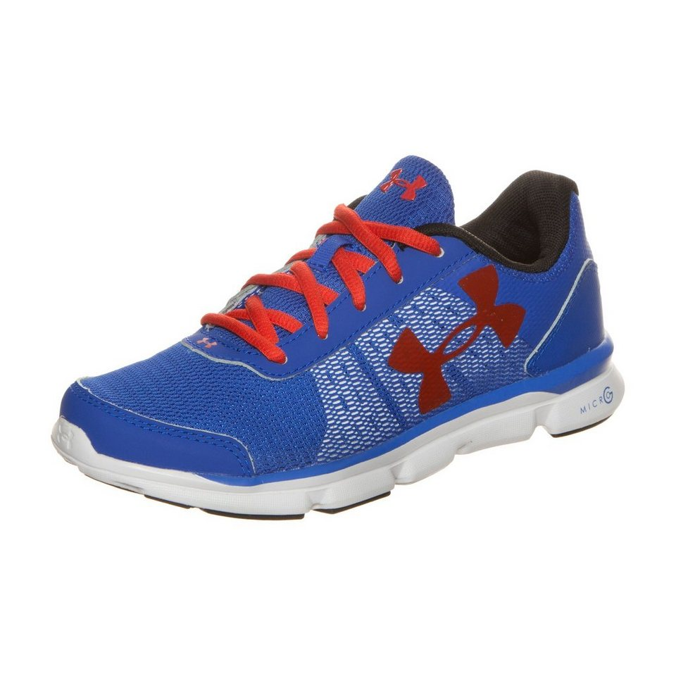 Under Armour® Micro G Speed Swift Laufschuh Kinder in blau / rot