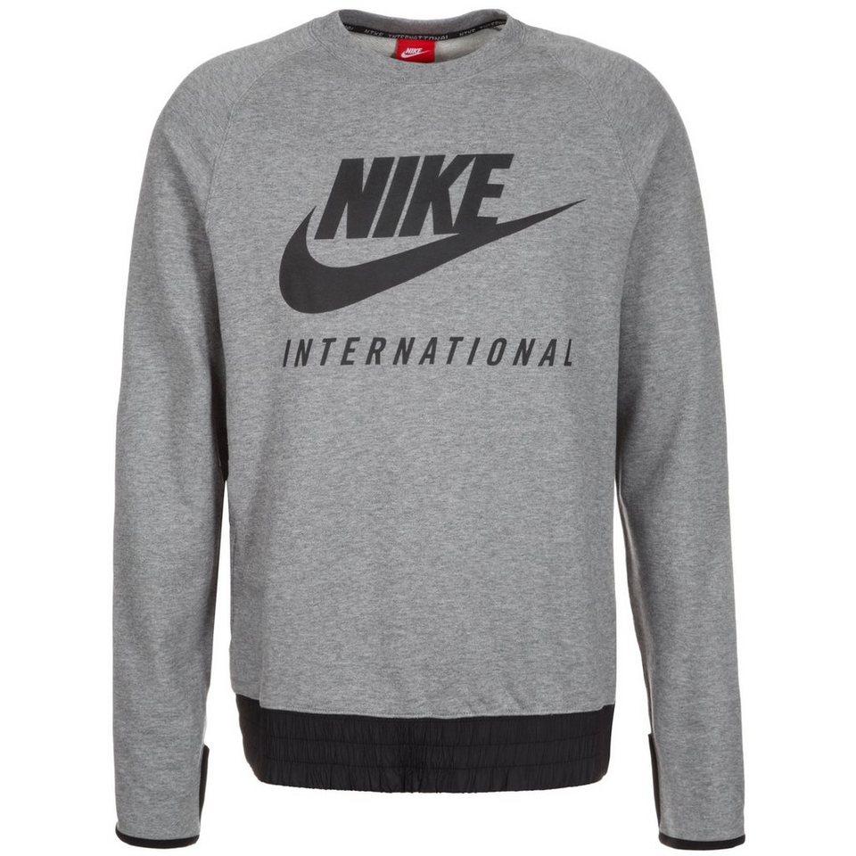 Nike Sportswear International Crew Sweatshirt Herren in grau / schwarz