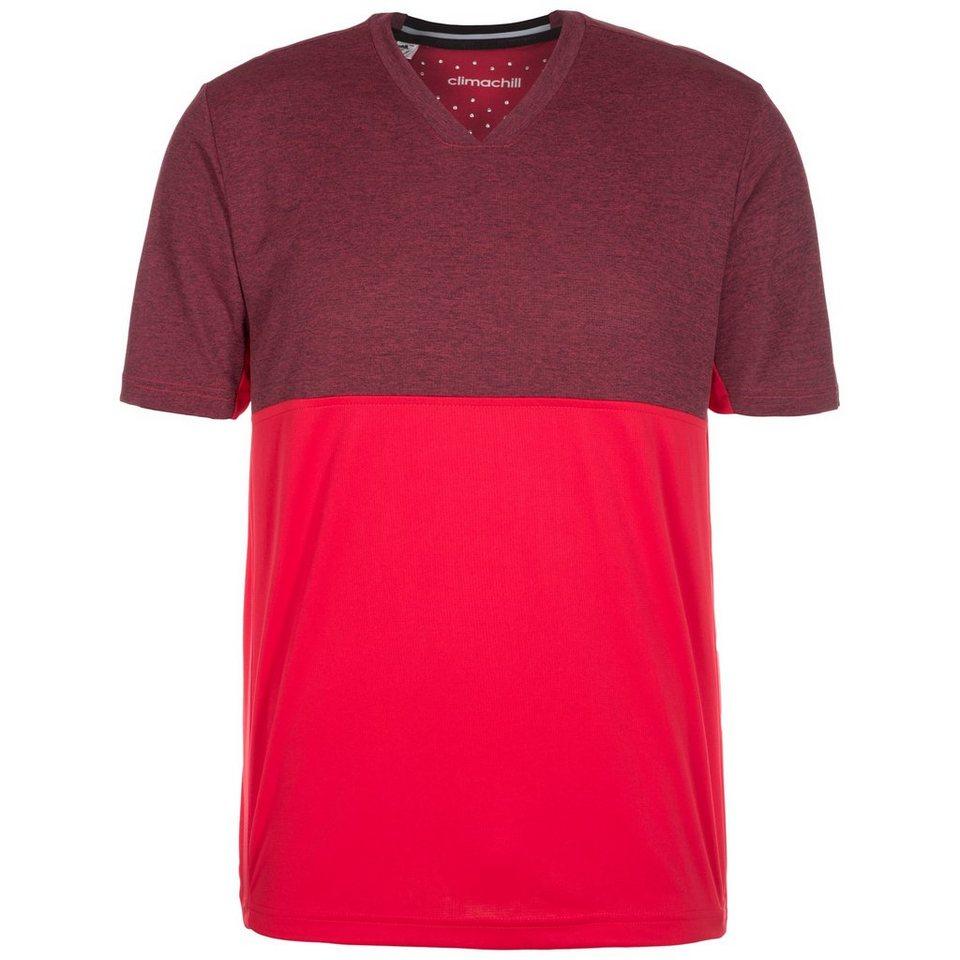 adidas Performance Uncontrol ClimaChill Tennisshirt Herren in dunkelrot / rot