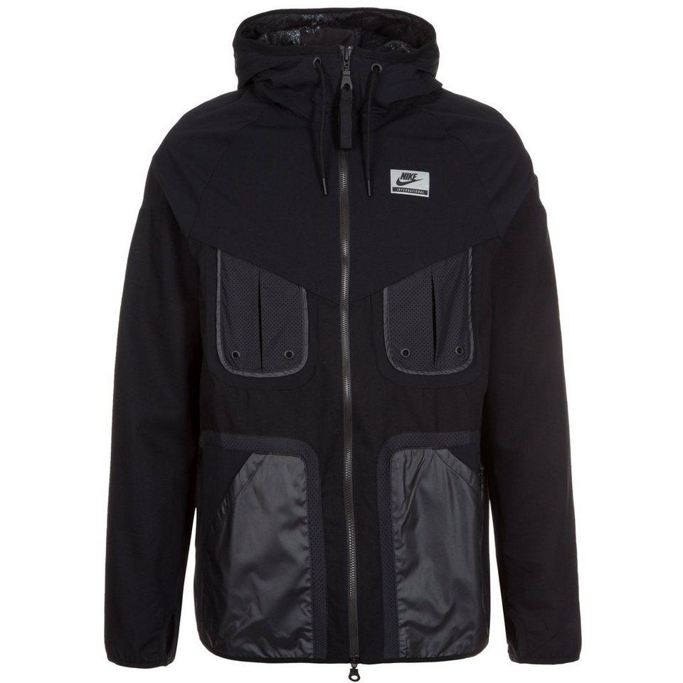 Nike Sportswear International Windrunner Jacke Herren in schwarz