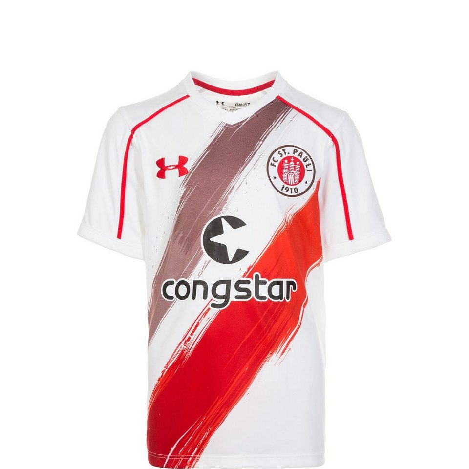 Under Armour FC St. Pauli Trikot Away 2016/2017 Kinder in weiß / braun / rot