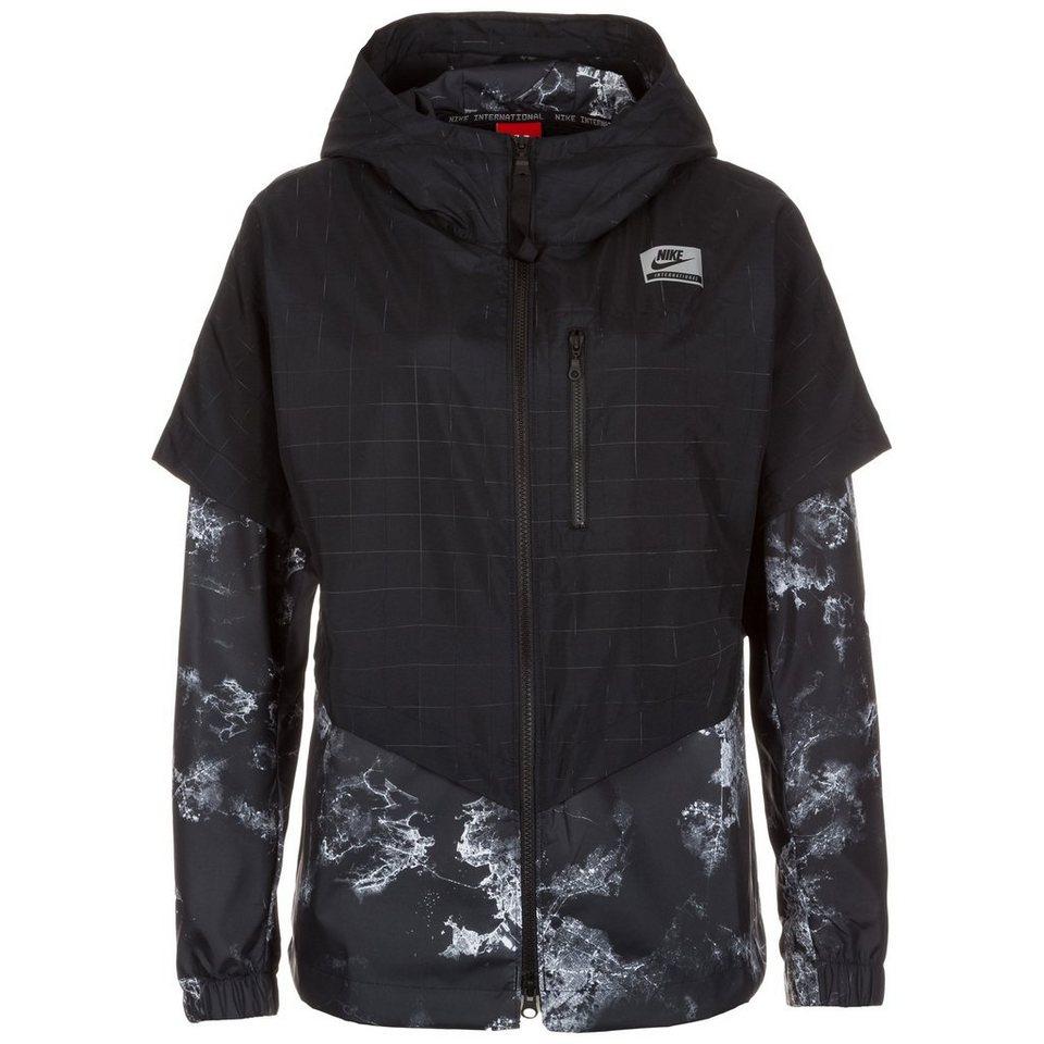 Nike Sportswear International Windrunner Jacke Damen in schwarz / hellgrau