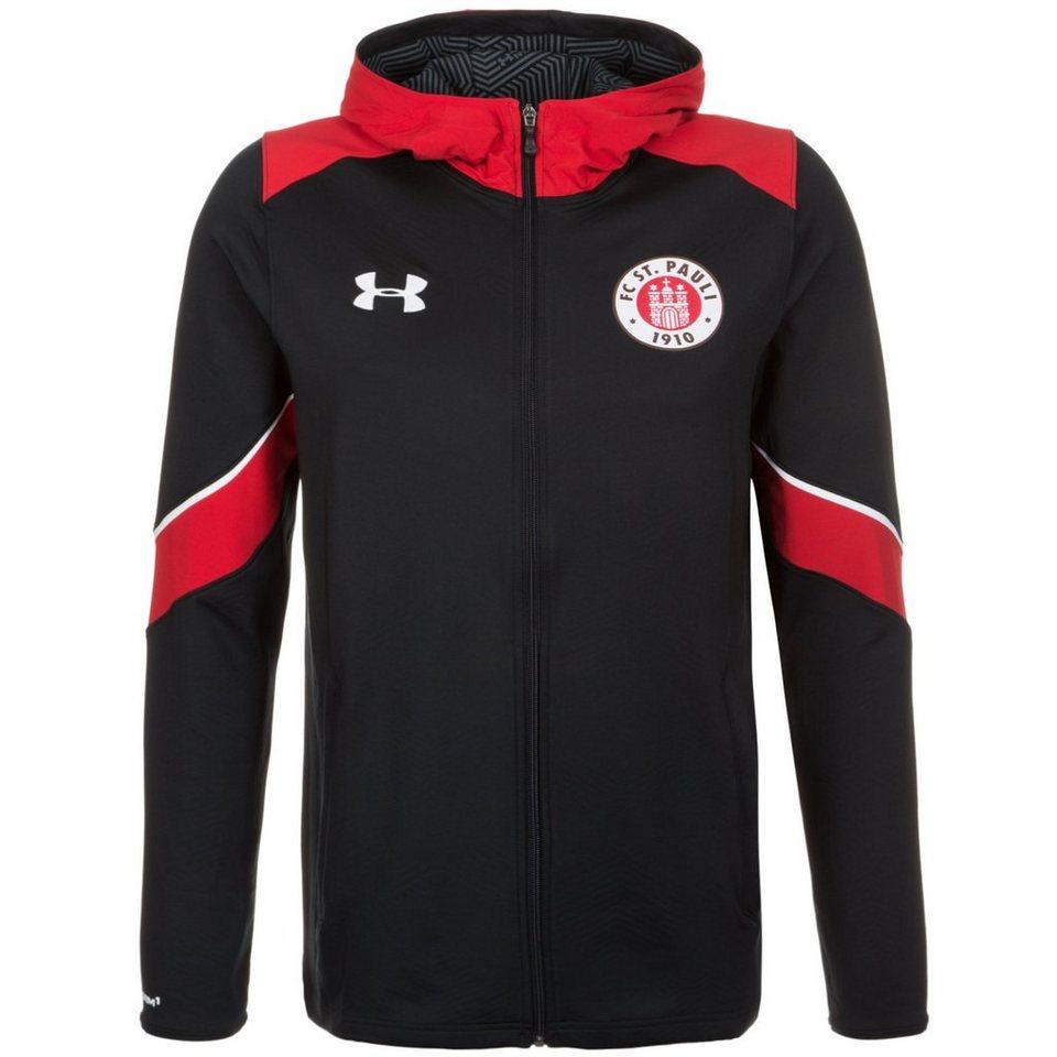 Under Armour® FC St. Pauli Kapuzenjacke Herren in schwarz / rot / weiß