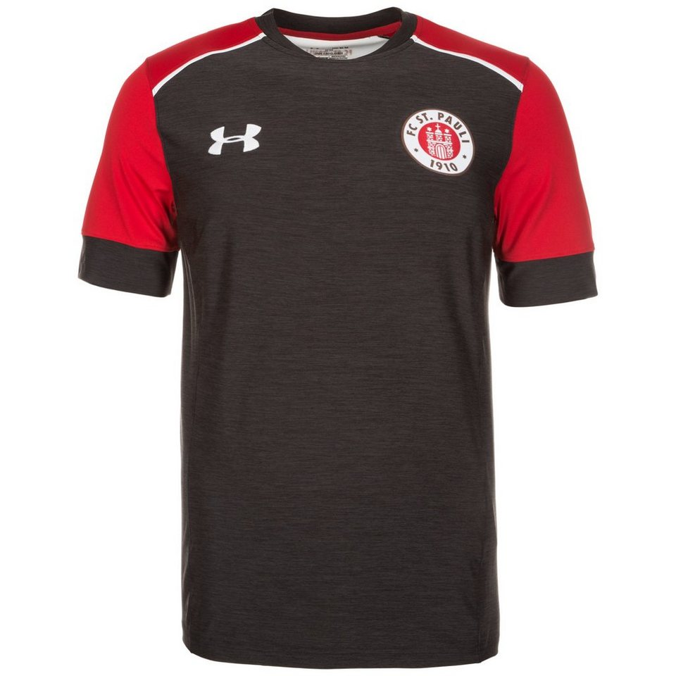 Under Armour FC St. Pauli Trainingsshirt Herren in anthrazit / rot