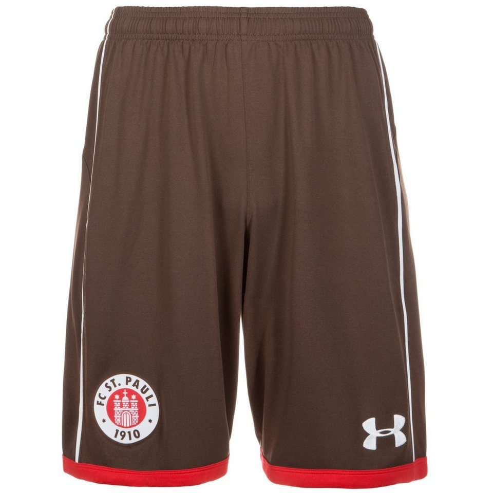 Under Armour FC St. Pauli Short Home 2016/2017 Herren in braun / weiß  / rot