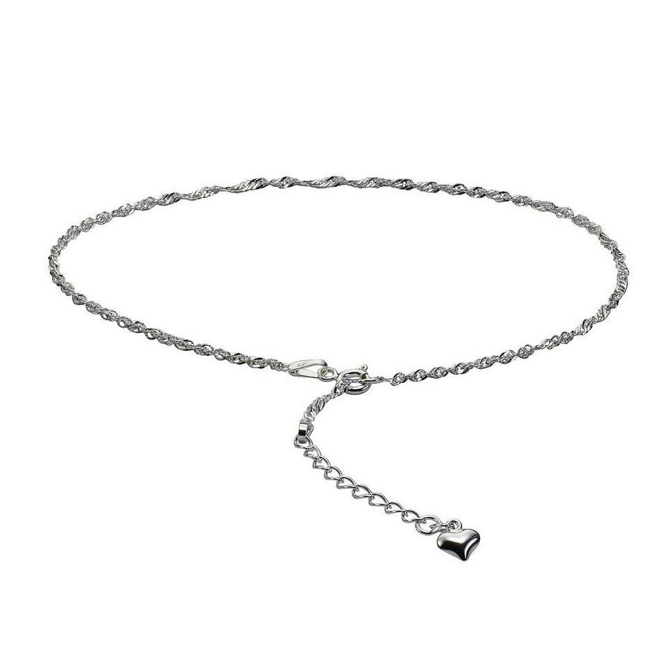 Zeeme Fußkette »925/- Sterling Silber 26+3cm lang« in Silbergrau
