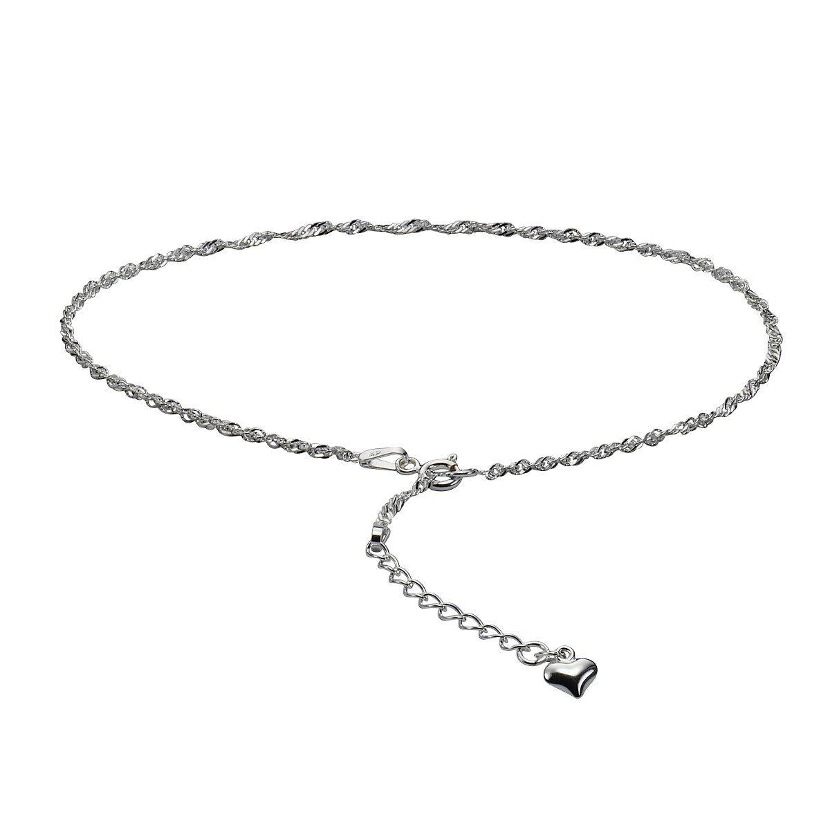 Zeeme Fußkette »925/- Sterling Silber 26+3cm lang«