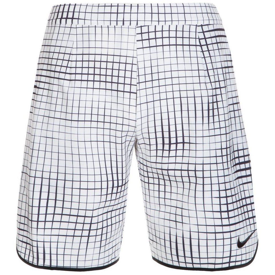 NIKE Court Gladiator Printed Tennisshort Herren in weiß / schwarz