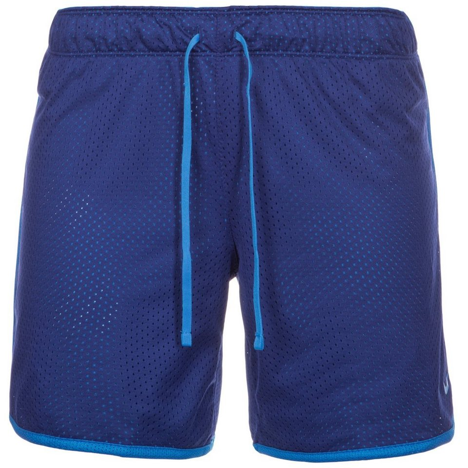 NIKE Drill Mesh Trainingsshort Damen in dunkelblau / blau