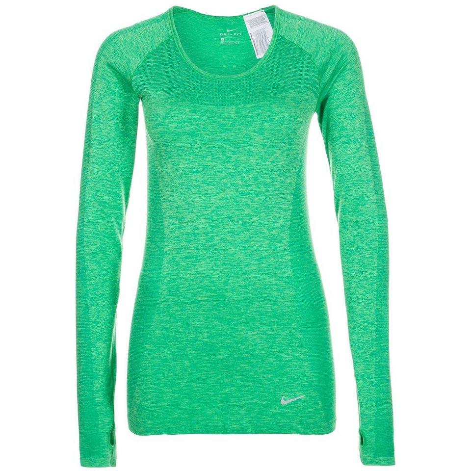 NIKE Dri-FIT Knit Laufshirt Damen in grün