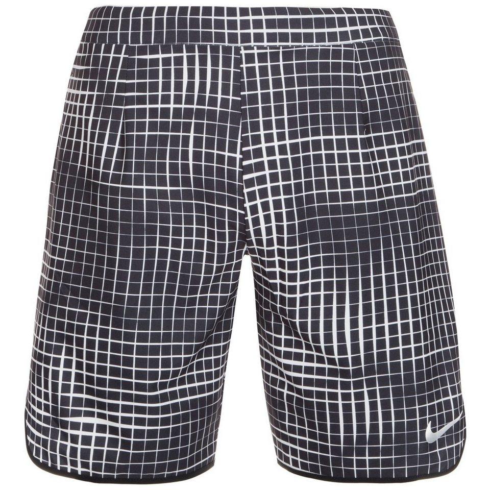NIKE Court Gladiator Printed Tennisshort Herren in schwarz / weiß