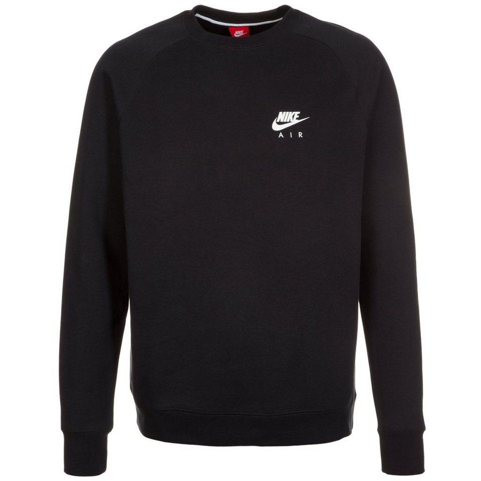 Nike Sportswear Air Fleece Crew Sweatshirt Herren in schwarz / weiß