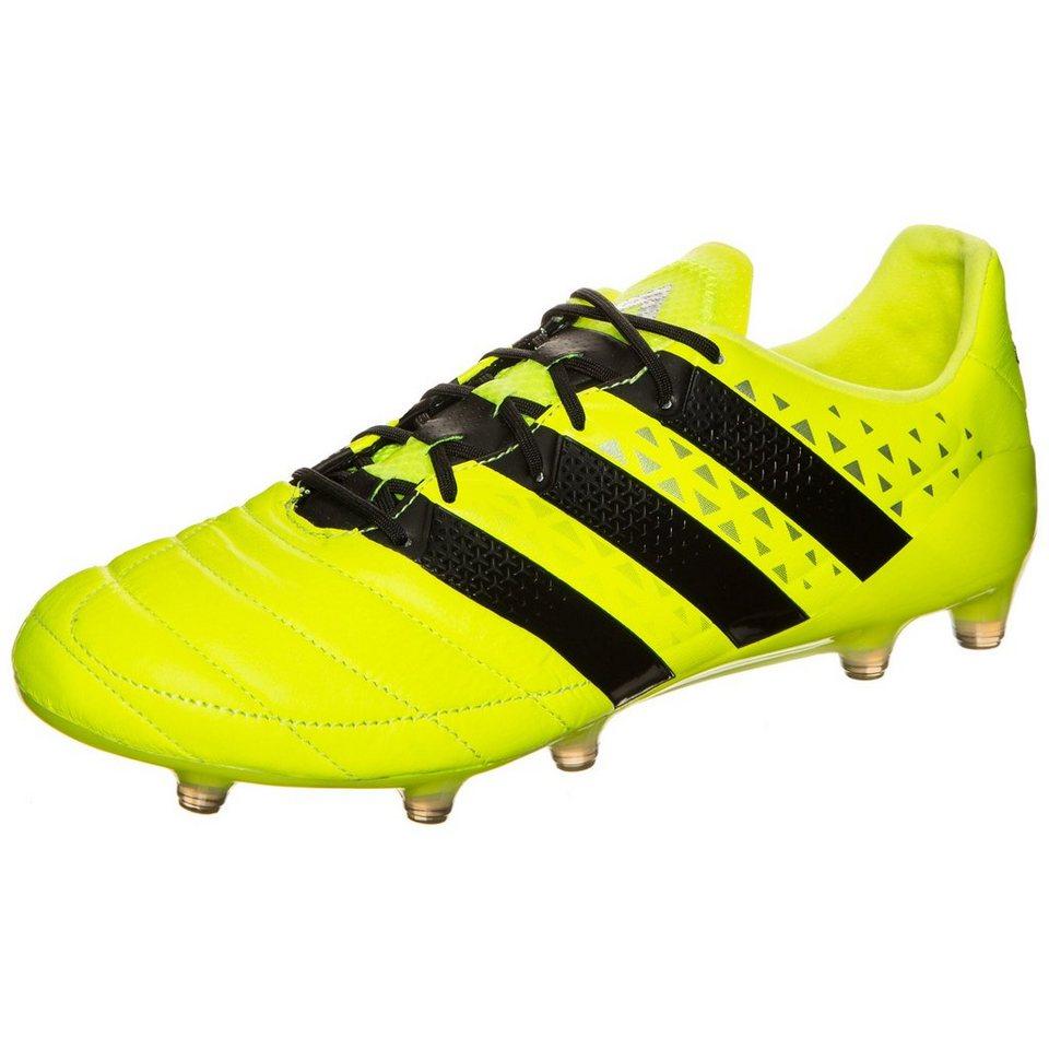 adidas Performance ACE 16.1 FG Leather Fußballschuh Herren in gelb / schwarz