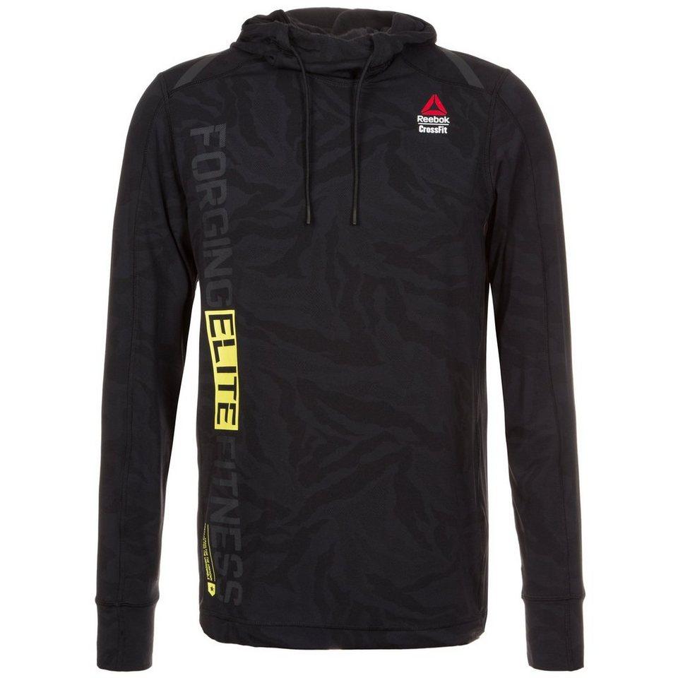 REEBOK CrossFit Jacquard Trainingskapuzenpullover Herren in schwarz / gelb