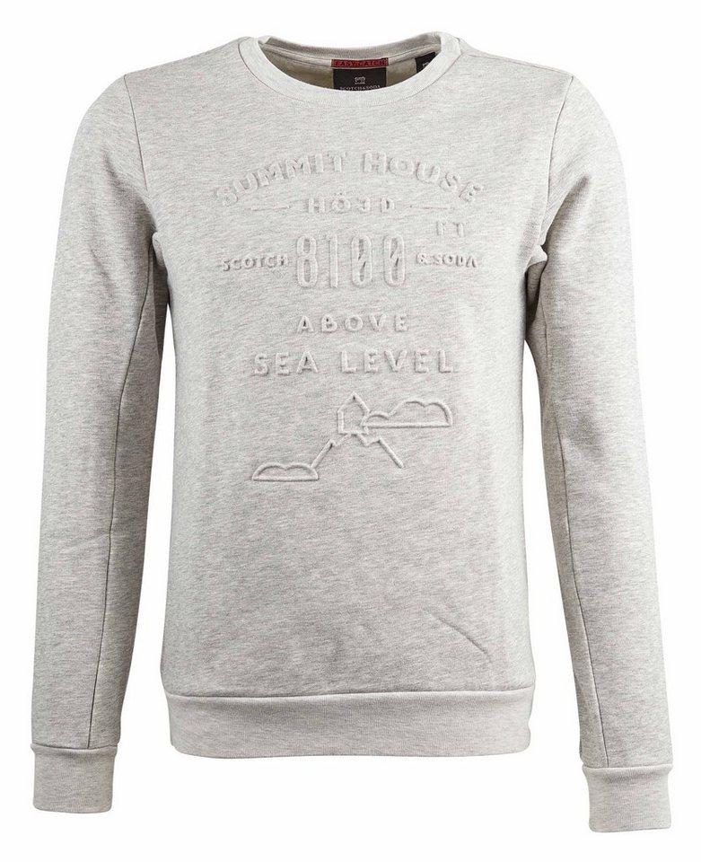Scotch & Soda Sweatshirt »Logoprint Sweater« in grau