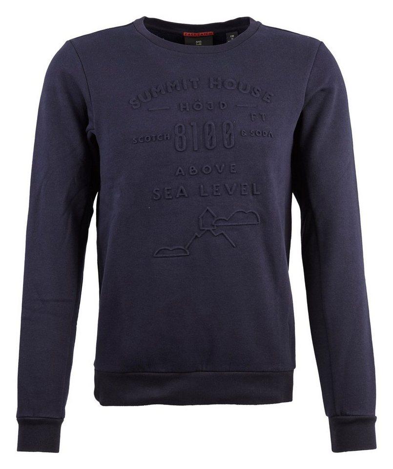Scotch & Soda Sweatshirt »Crewneck sweat« in blau