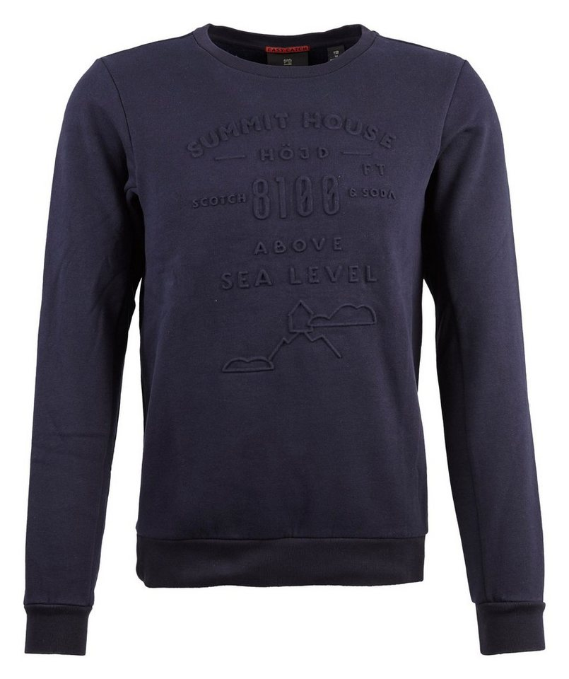 Scotch & Soda Sweatshirt »Sweater in dunkelblau« in blau