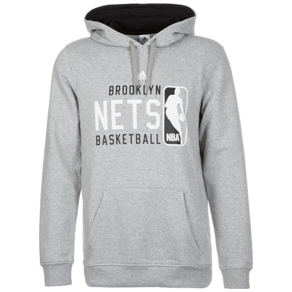 adidas Performance GFX Brooklyn Nets Kapuzenpullover Herren in grau