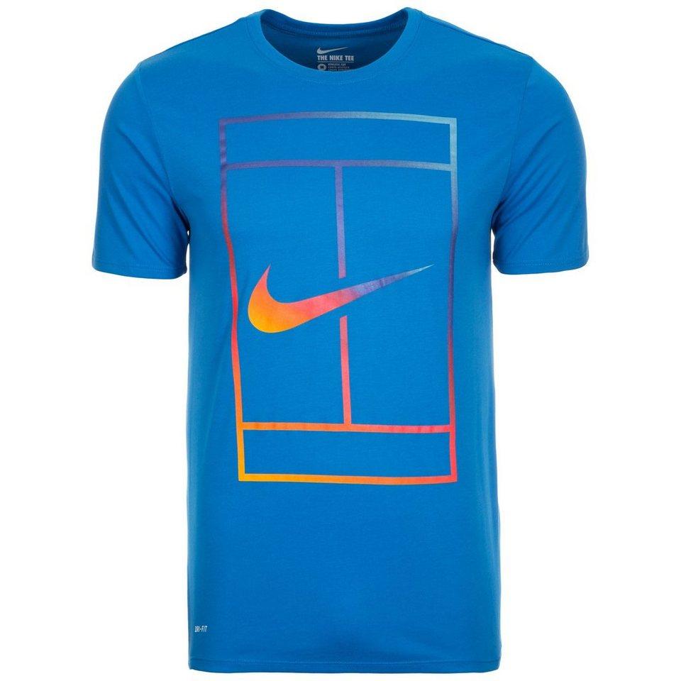 NIKE Court Iridescent Tennisshirt Herren in blau / bunt
