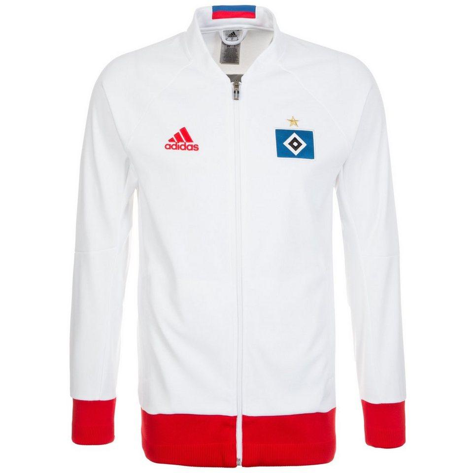 adidas Performance Hamburger SV Anthem Jacke Herren in weiß / rot