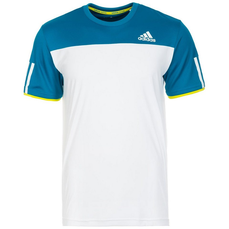 adidas Performance Club Tennisshirt Herren in weiß / blau / lime