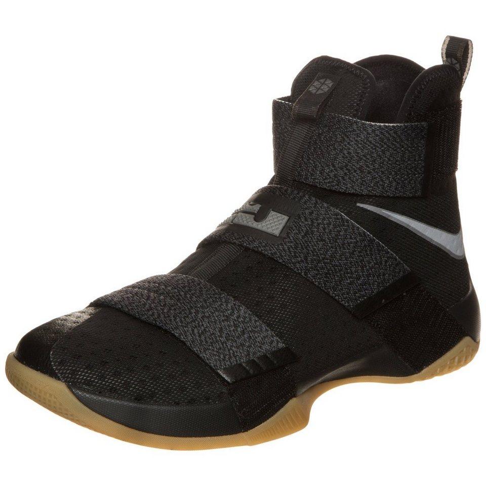 NIKE Zoom Lebron Soldier X SFG Basketballschuh Herren in schwarz / grau