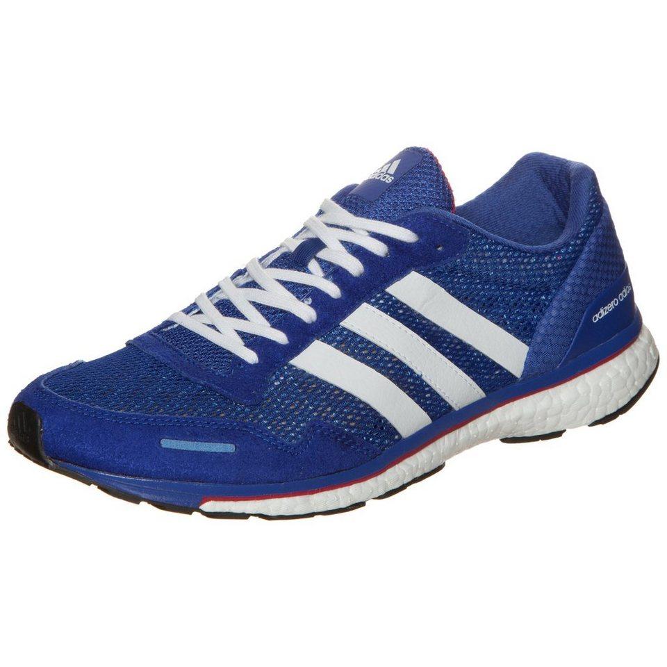 adidas Performance adizero Adios Boost 3 Laufschuh Herren in blau / weiß / pink