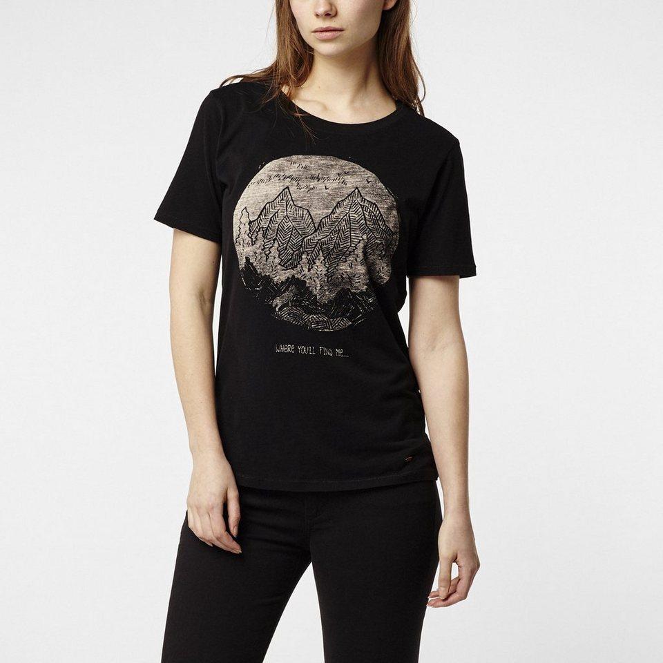 O'Neill T-Shirt kurzärmlig »Americana« in Schwarz