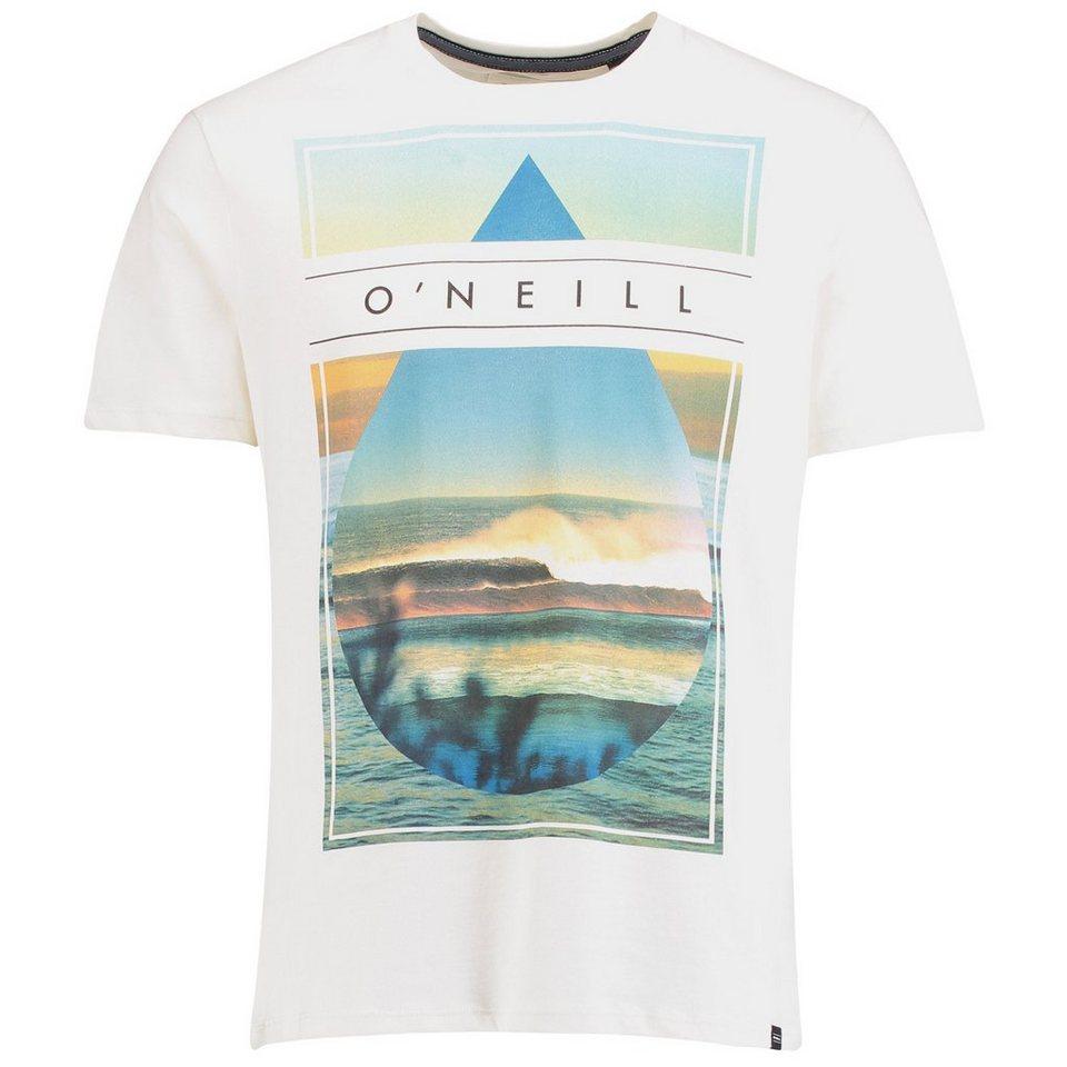 O'Neill T-Shirt kurzärmlig »Framed« in Weiß