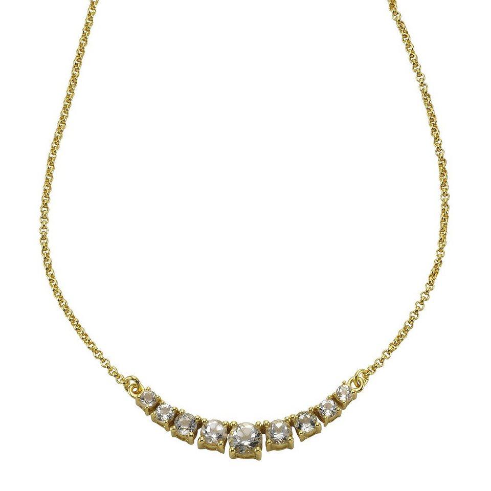 Zeeme Collier »925/- Sterling Silber mit Weißtopas« in gelb