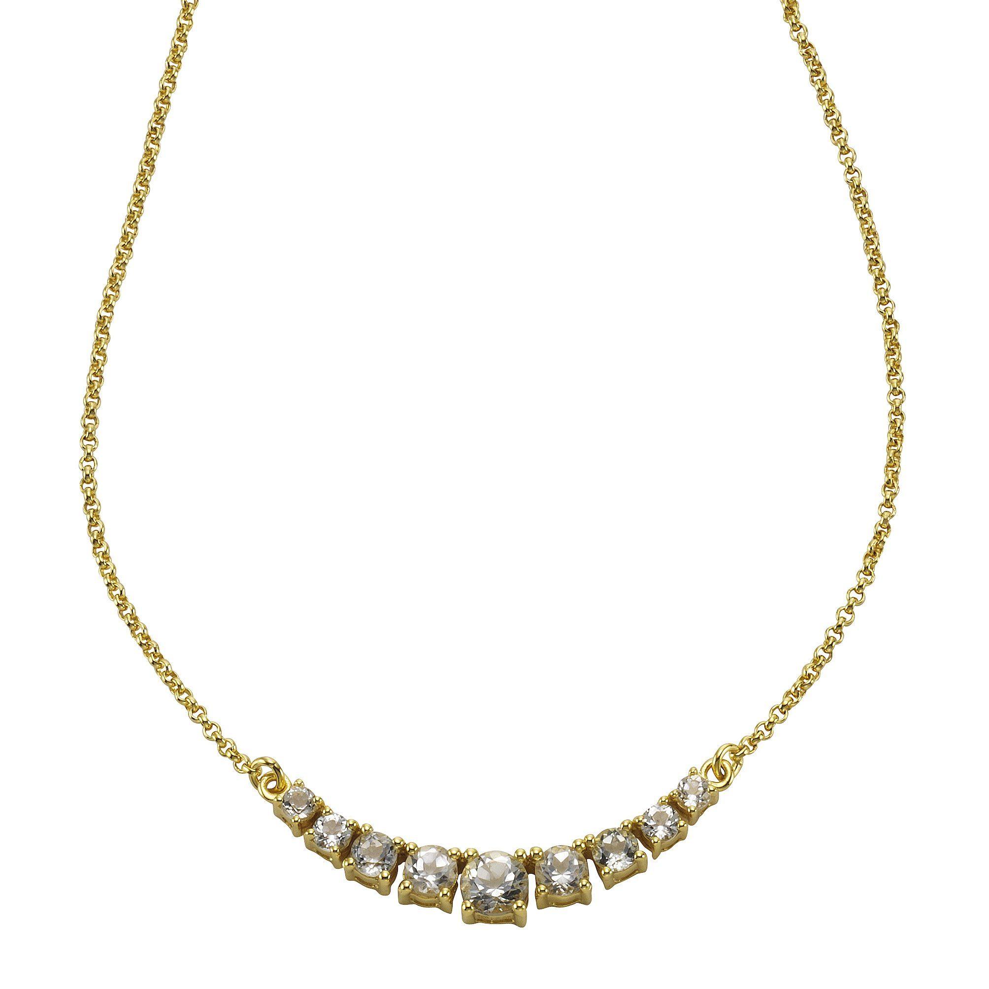 Zeeme Collier »925/- Sterling Silber mit Weißtopas«