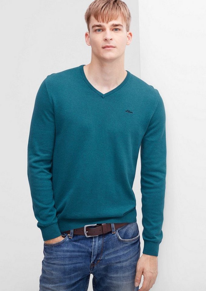 s.Oliver RED LABEL Pullover in mineral green melang